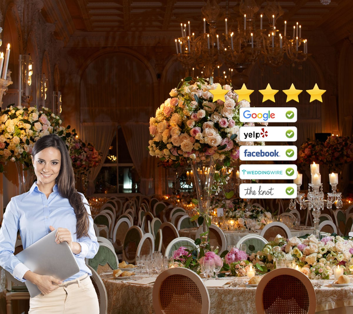 Review generation for wedding planner